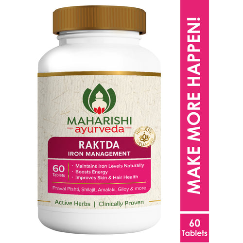 Raktda - Iron Management (Single Pack) | 60 Tablets Pack - Maharishi Ayurveda