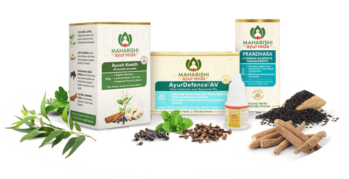 Ayur Defence Shield - Complete Protection Against Viruses & Flu (Pack of 4 Products) - Maharishi Ayurveda