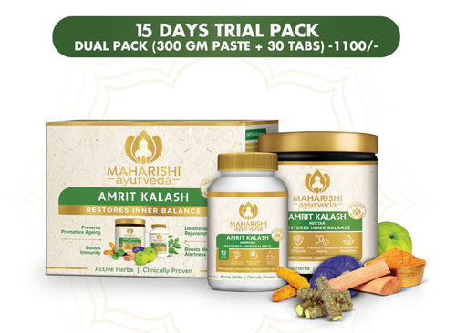 Maharishi Ayurveda Amrit Kalash-Dual Pack (Paste and Tablet) 15 Days Trial Pack - Maharishi Ayurveda