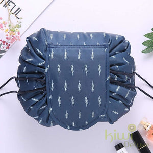 Deluxe Cosmetic Bag Blue Feather / 1 Bag 50% Off Beauty