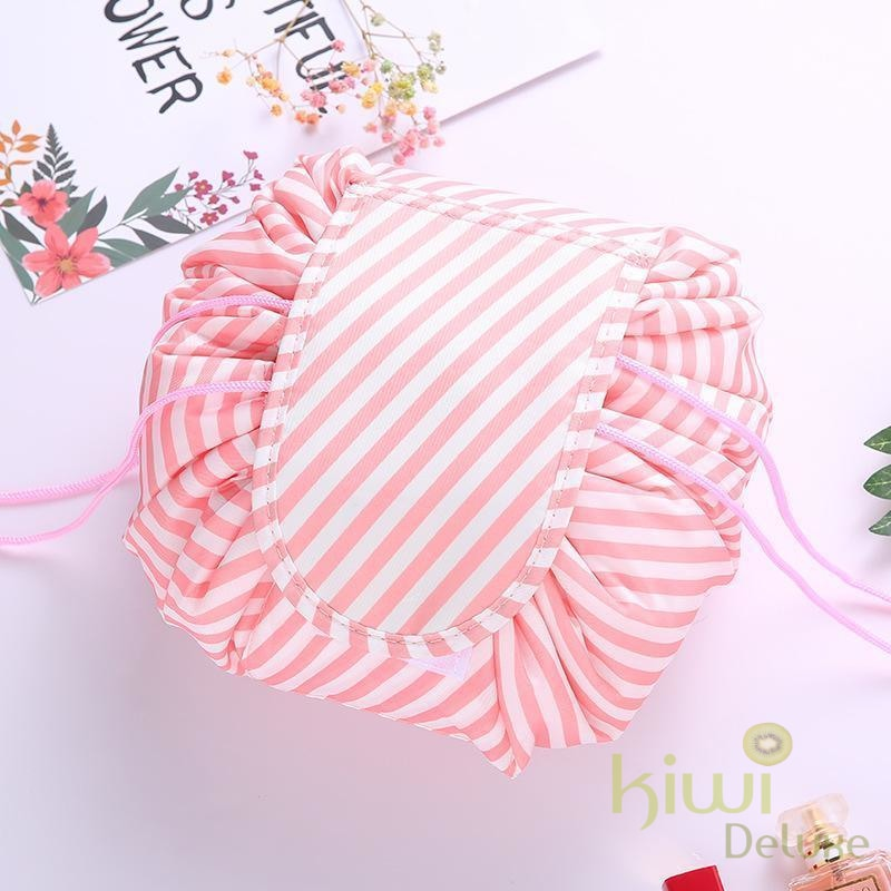 Deluxe Cosmetic Bag Pink Stripe / 2 Bag 60% Off Beauty