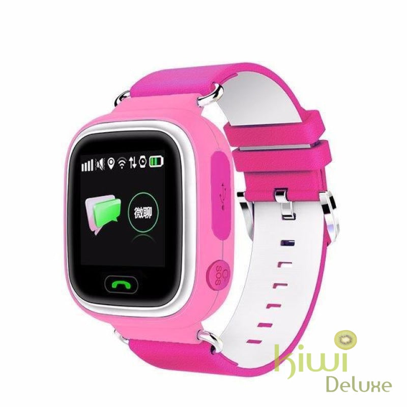Gps Locator Smart Watch Pink / English Without Wifi