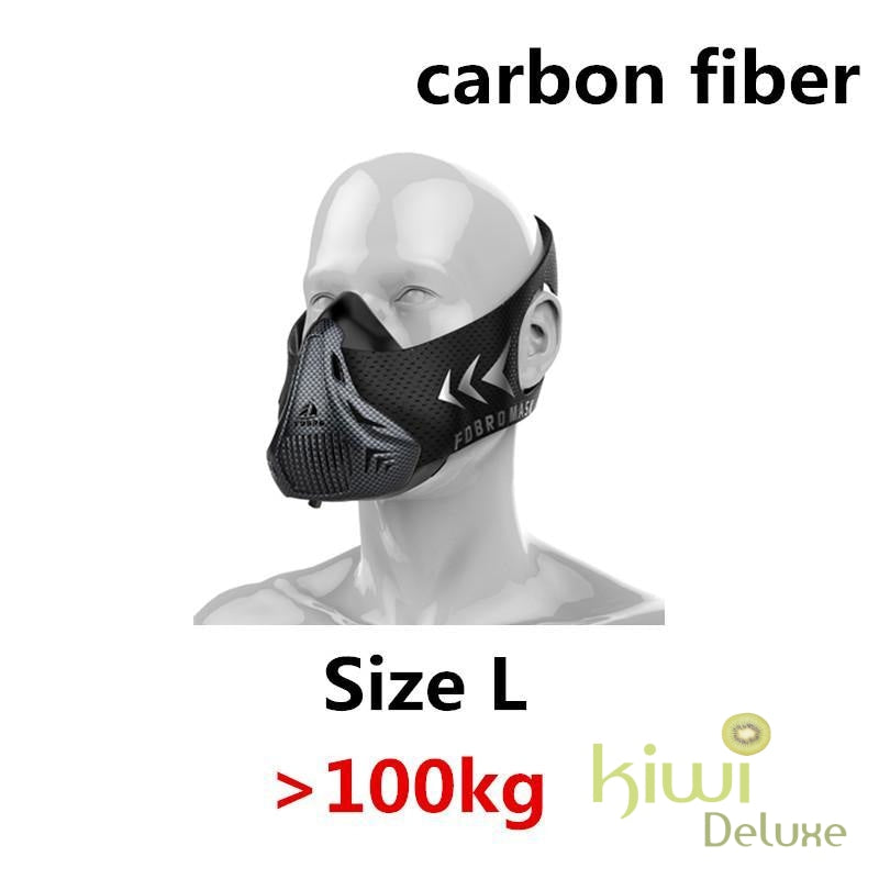 High Altitude Training Mask Carbon Fiber / L