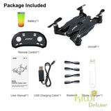 Jjrc Foldable Pocket Drone Black 1 Battery