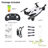 Jjrc Foldable Pocket Drone White 1 Battery