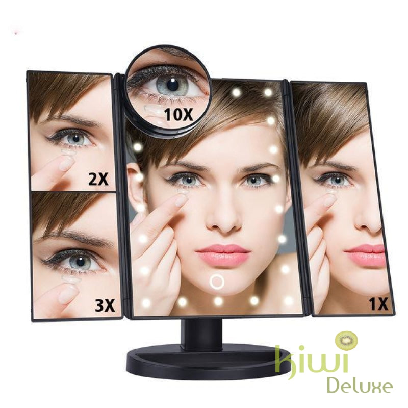 Led Vanity Makeup Mirror Black