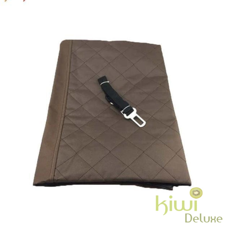 Luxury Waterproof Pet Seat Cover For Cars Coffee / 140X150Cm