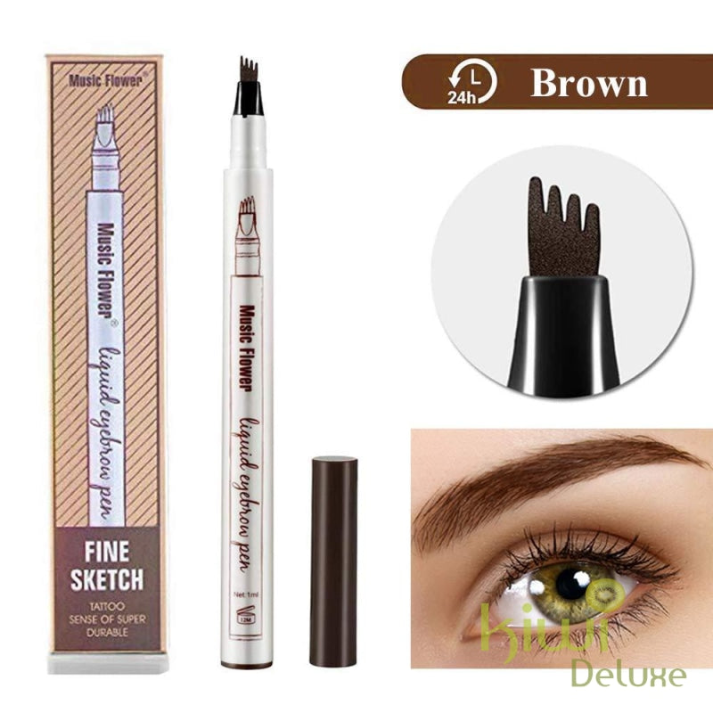 Microblading Tattoo Eyebrow Ink Pen Brown