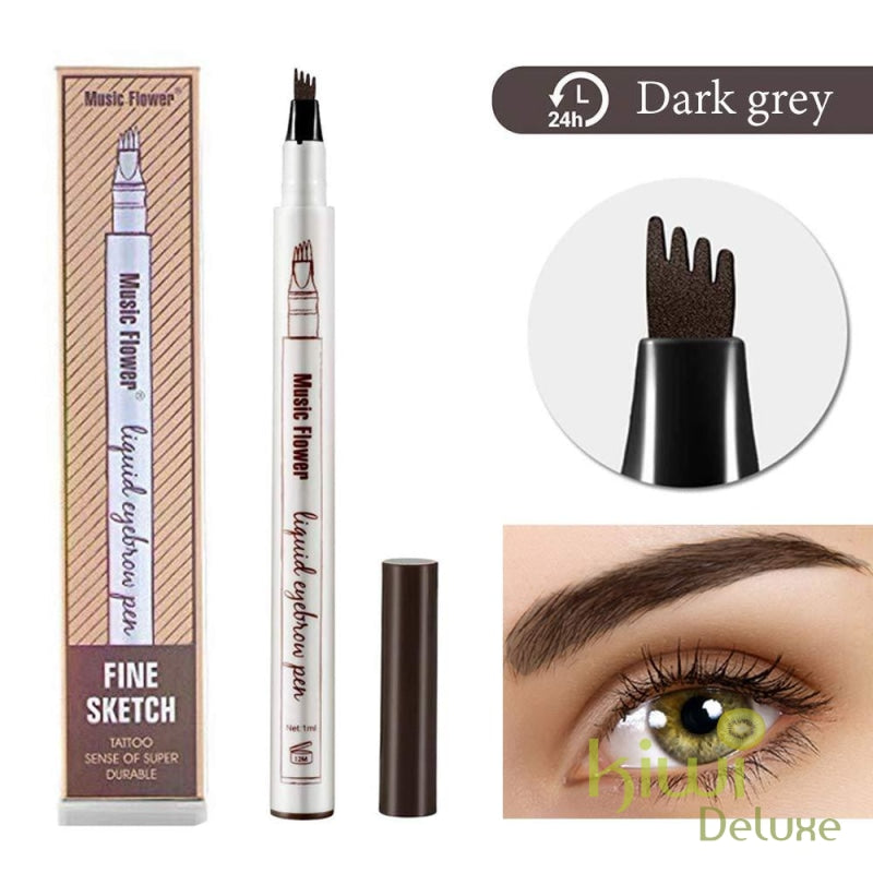Microblading Tattoo Eyebrow Ink Pen Dark Gray