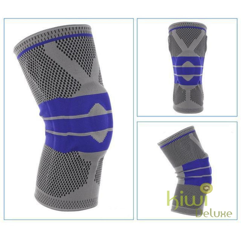 Nylon Silicon Knee Protection Grey / 36Cm To 42Cm