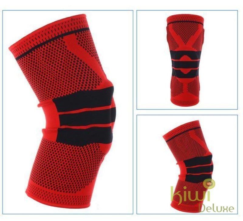 Nylon Silicon Knee Protection Red / 36Cm To 42Cm