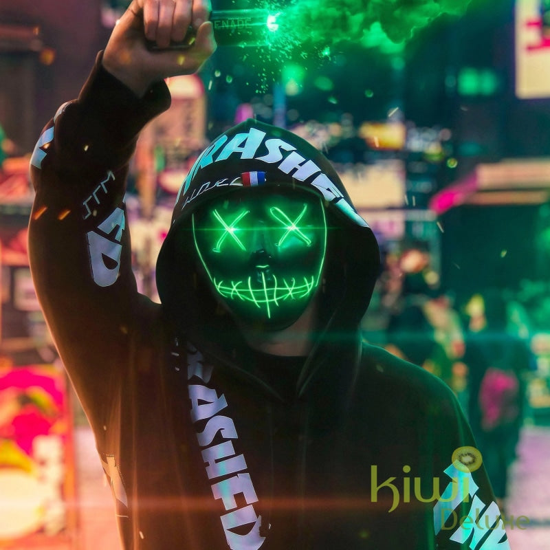Purge Halloween Led Light Party Mask Green Halloween