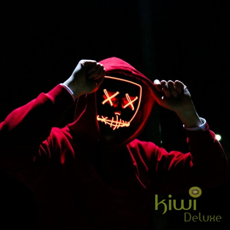 Purge Halloween Led Light Party Mask Orange Halloween