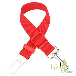 Safe Pet Transport Seat Belt Red / Free Size