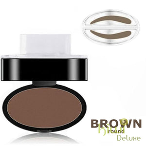 Waterproof Eyebrow Stamp Brown / Round