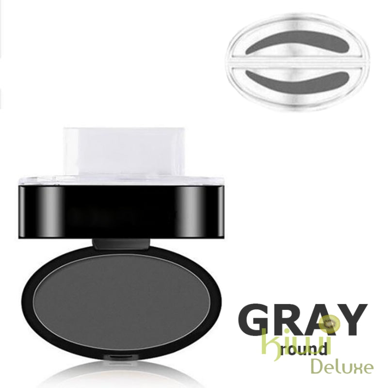 Waterproof Eyebrow Stamp Gray / Round