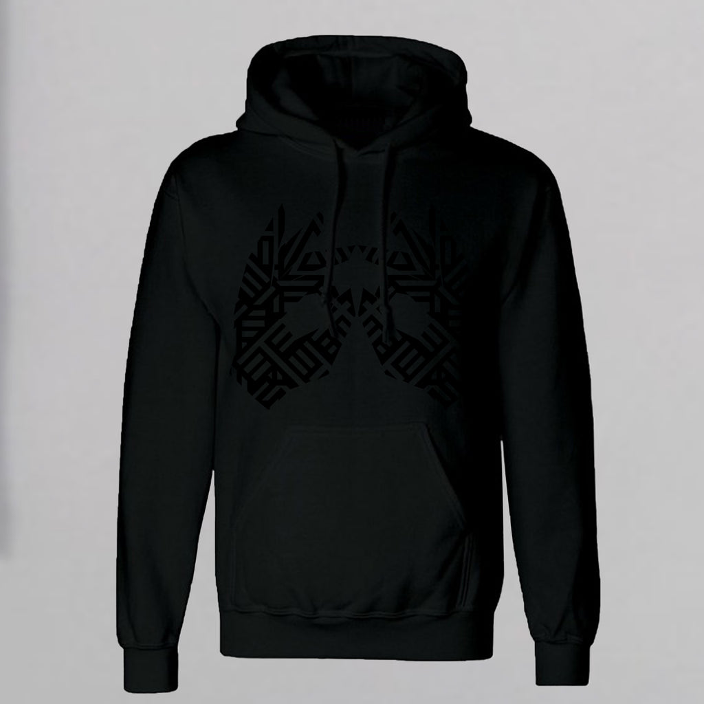 AM27 GLOSS GRAPHIC HOODY - BLACK