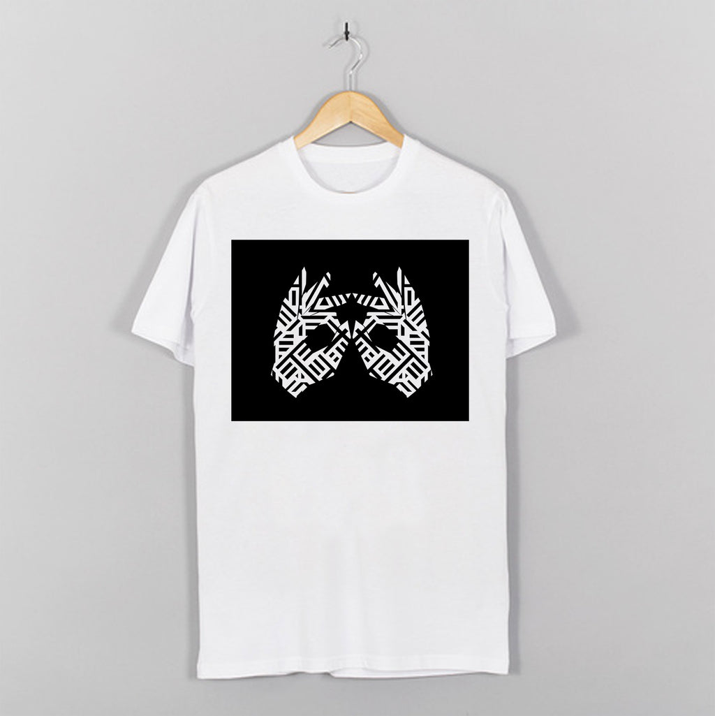 AM27 BOX PRINT TEE - WHITE