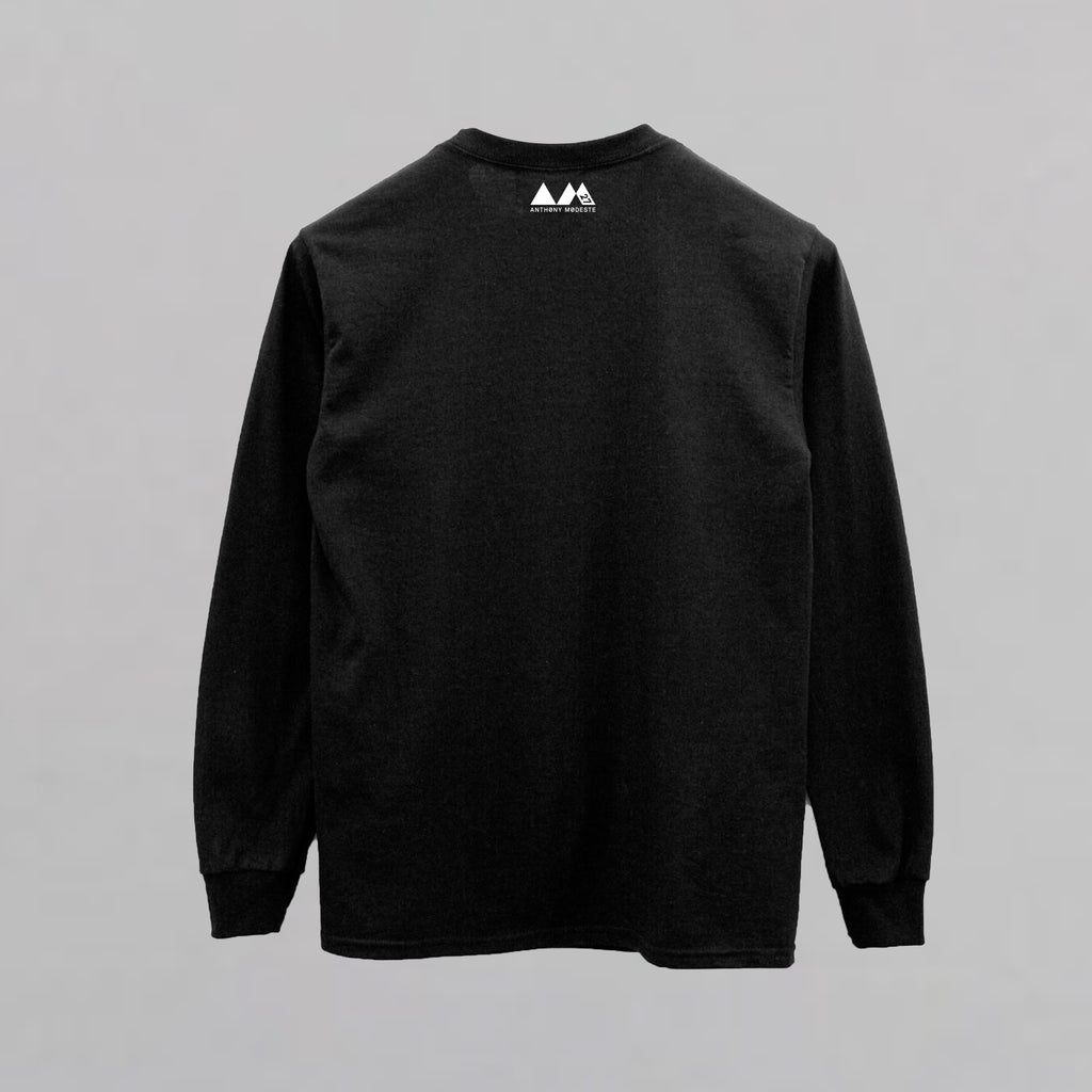 AM27 GRAPHIC BOX PRINT SWEATSHIRT - BLACK