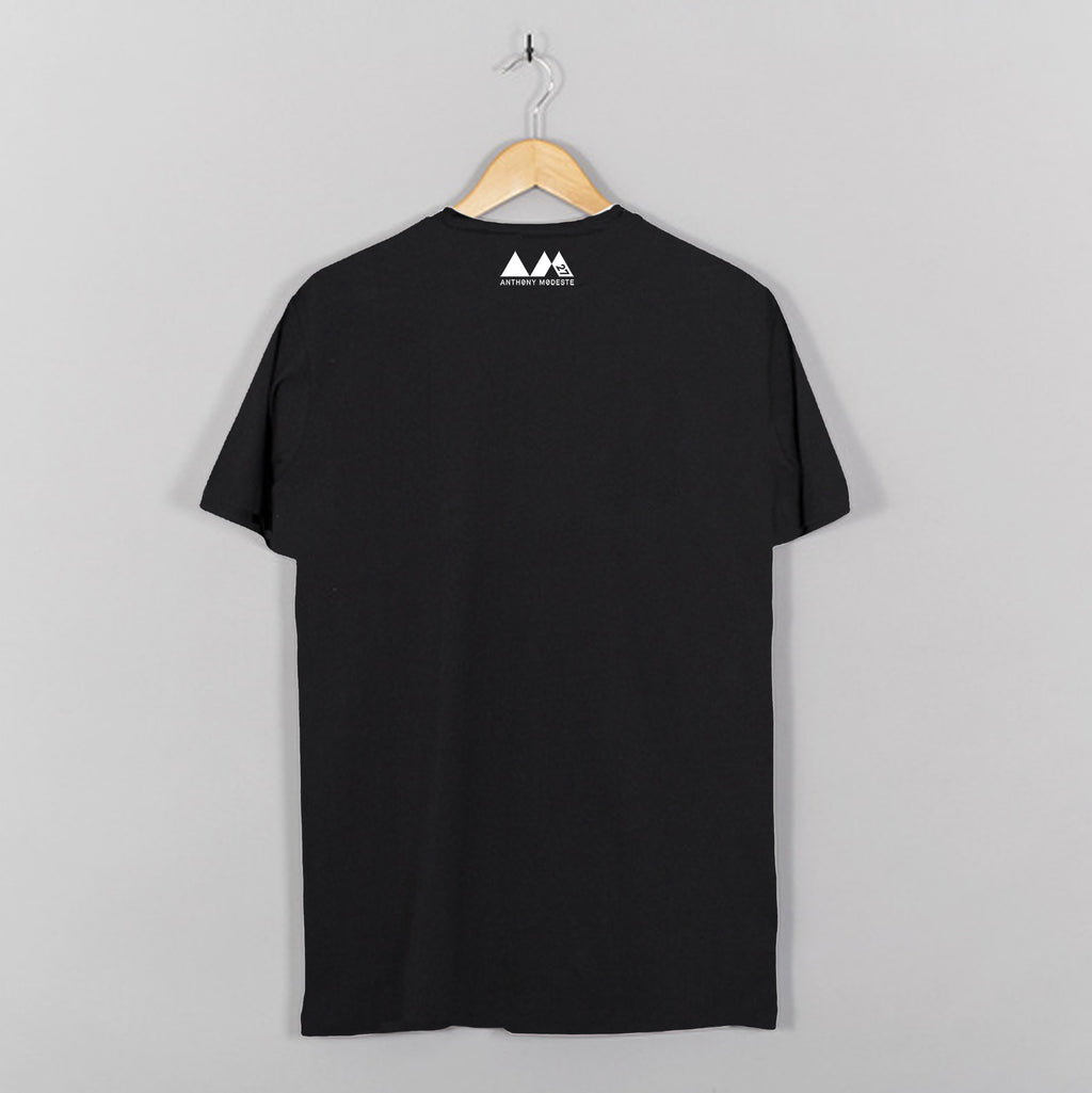 AM27 BOX PRINT TEE - BLACK