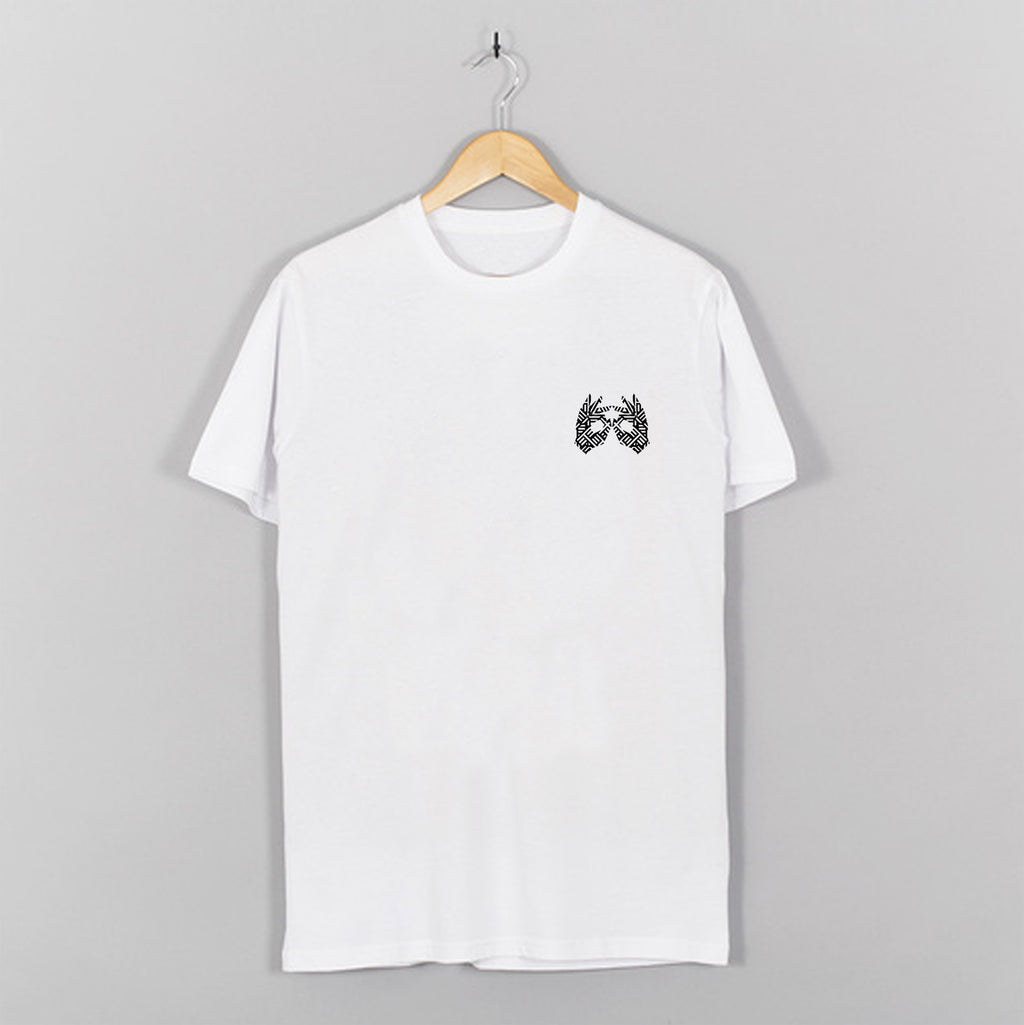 AM27 GRAPHIC DOUBLE PRINT TEE - WHITE|BLACK