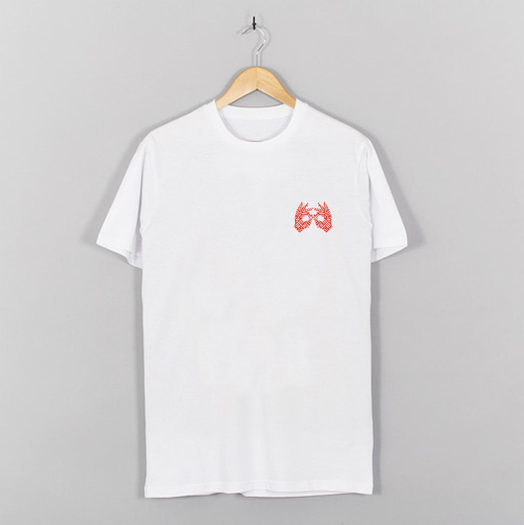 AM27 GRAPHIC DOUBLE PRINT TEE - WHITE|ORANGE