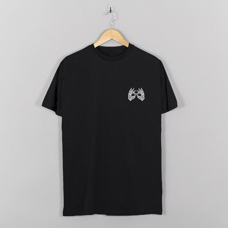 AM27 GRAPHIC DOUBLE PRINT TEE - BLACK