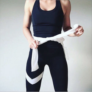 White Strip Legging