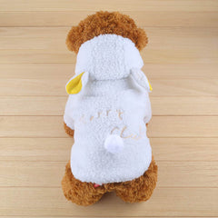 Fashion White Dog Coat