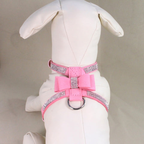 Bling Rhinestone Harness & Leather Leash