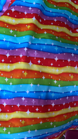 Rainbow Stripe Knit Fabric