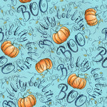 Bibbity Bobbity Boo Pumpkins Custom Knit Fabric In stock RTS