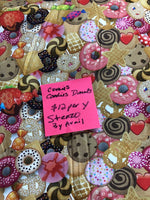 Cookie Candy & Donut Knit Stenzo Fabric