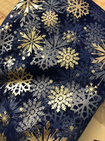 Silver Snowflakes on New Frozen Movie Royal blue