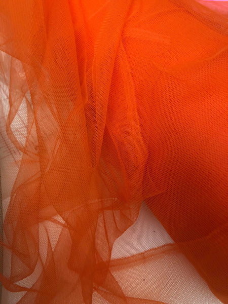 Orange Solid Nylon mesh