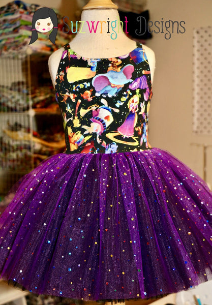 Purple with sequins
