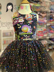 Multi color foil stars on Black Tulle/Mesh Reorder placed  ETA 6/29/20