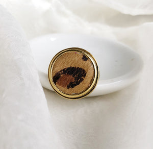 Leopard Adjustable Ring