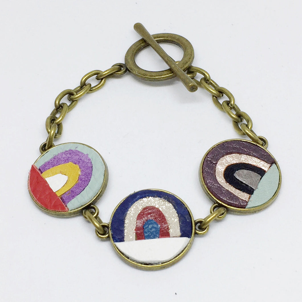Rainbow Mosaic Bracelet - Laundry Girl Jewelry