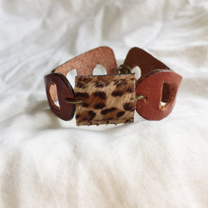 Brownie Cuff - Light Leopard - Laundry Girl Jewelry