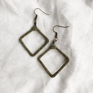 Be Square - Recycled Leather Wrapped Earrings