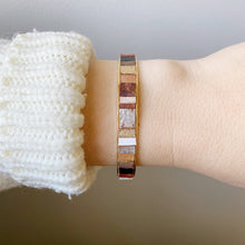 Load image into Gallery viewer, Genie Bangle - Its Magic!  Recycled Leather and Gold Plated Brass
