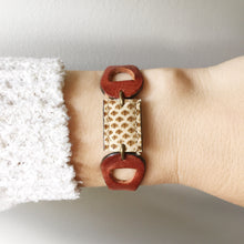 Load image into Gallery viewer, Brownie Cuff - Snake Skin - Laundry Girl Jewelry