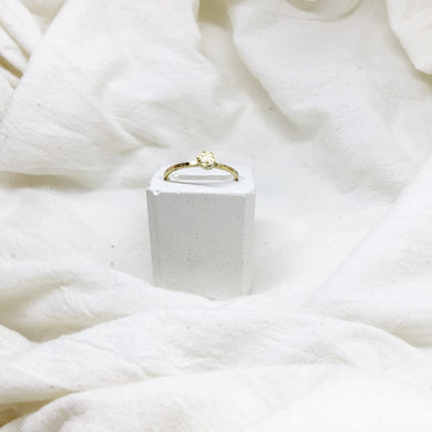 Dainty Stacking Rings Filled with Gold Recycled Leather - Size 8 - Gold Band