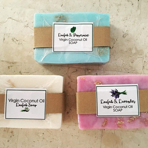VCO Loofah Soap: 1 bar
