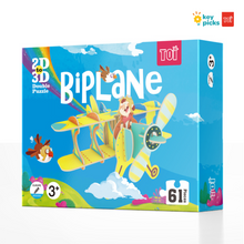 Load image into Gallery viewer, BIPLANE - 2D TO 3D PUZZLE