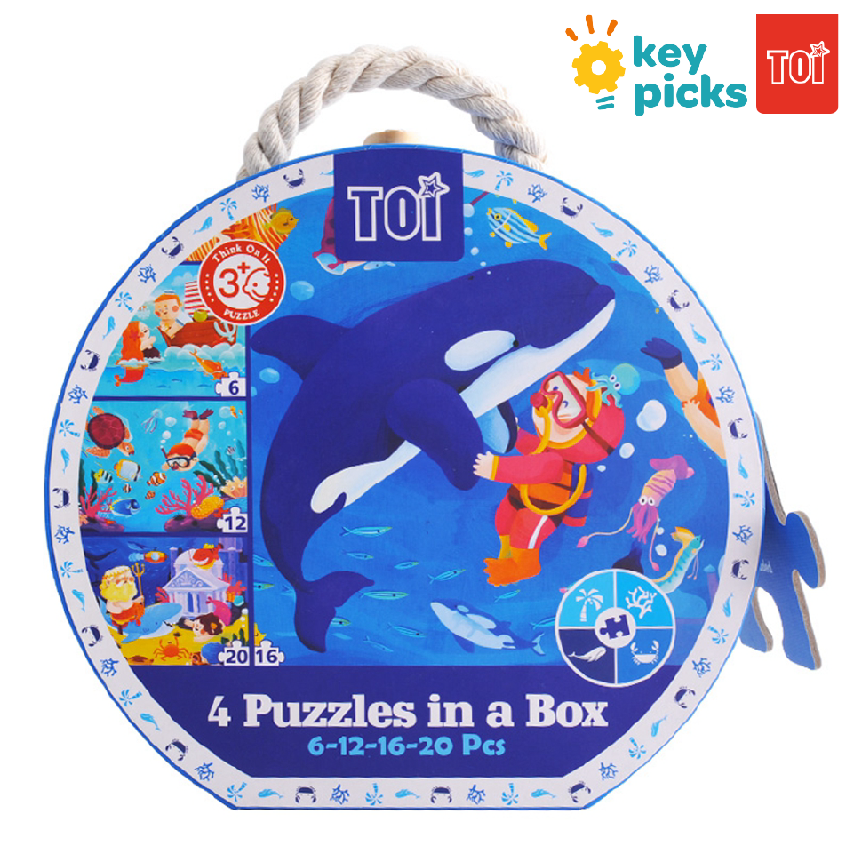 4 PUZZLES IN A BAG - UNDER THE SEA