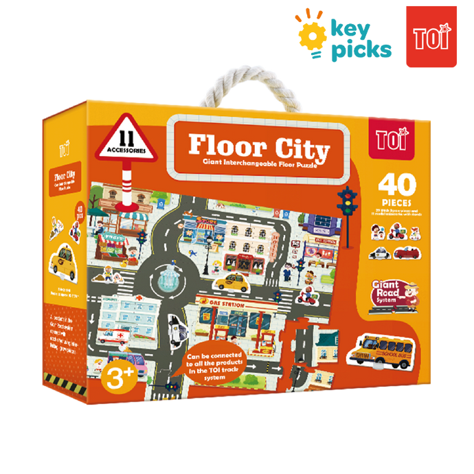 GIANT INTERCHANGEABLE FLOOR PUZZLE - FLOOR CITY