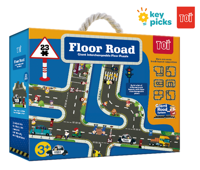 GIANT INTERCHANGEABLE FLOOR PUZZLE - ROADS