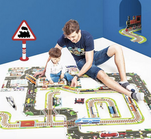 Load image into Gallery viewer, GIANT INTERCHANGEABLE FLOOR PUZZLE - RAILWAY